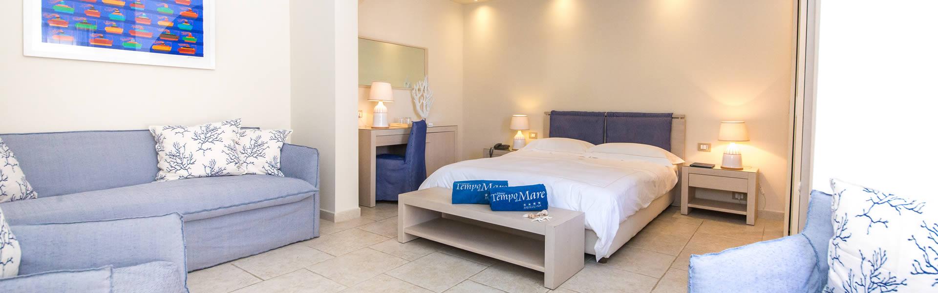 Le Plus più spaziose rispetto alle family suite sono il luogo ideale dove trascorrere una vacanza con la famiglia, in un' isola magica.